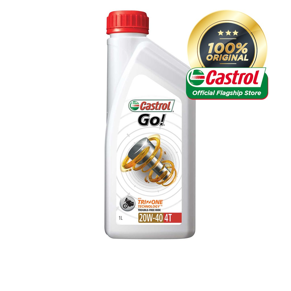 Castrol GO! 4T 20W-40 Engine Oil For Motorcycles (1L