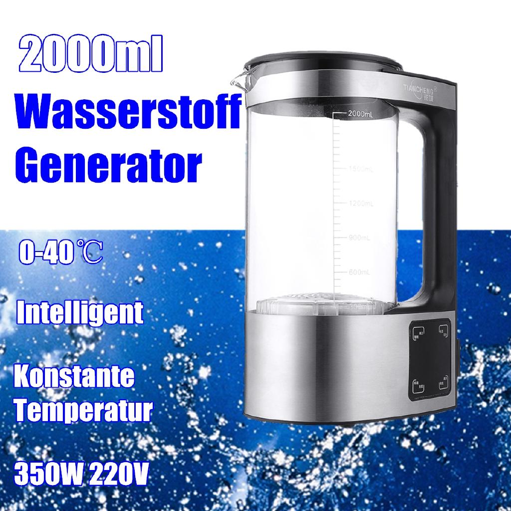 2L Alkaline Hydrogen Rich Water Maker Generator Pitcher Energy Kettle Bottle EU