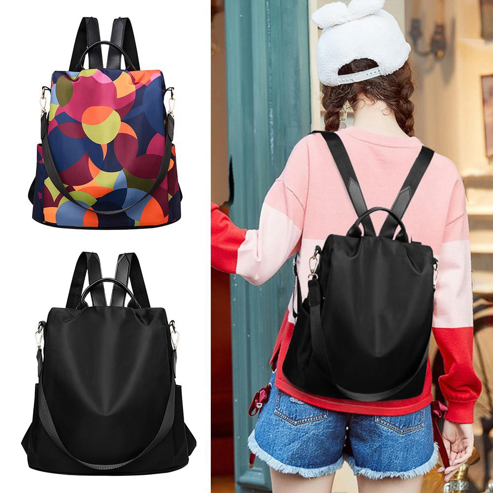 165728799345 Women Oxford Multifunction School Bags Girls Casual Anti Theft Backpacks