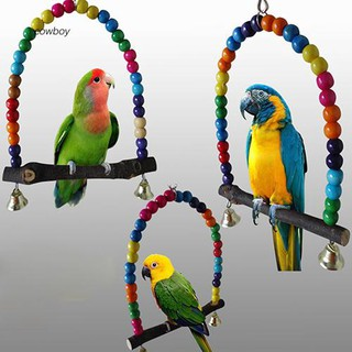 CWBY_Colorful Bird Toy Parrot Swing Cage Stand Frame