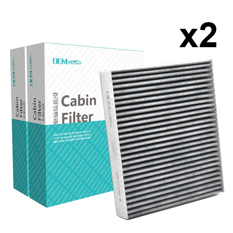 2x Car Pollen Cabin Air Filter Includes Activated Carbon 1315687 1494697 3M5J-19G244-AA For Focus Mk2 Mk3 Galaxy Kuga Mondeo Mk4 C-Max S-Max