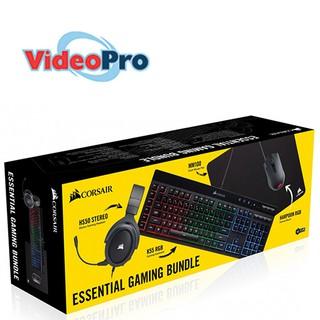 Corsair 4-in-1 Essential Gaming Bundle (HS50 + K55 RGB +