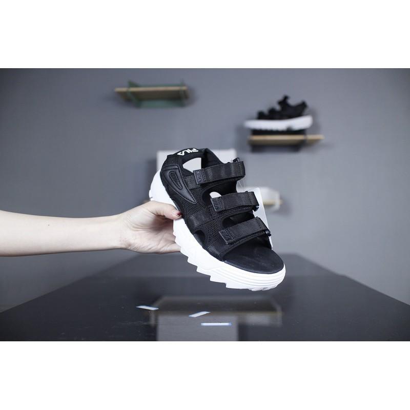 15bcb8e27f Original Fila Disruptor II Sandals Sandal Slipper Magic tape Velcro Women  Black