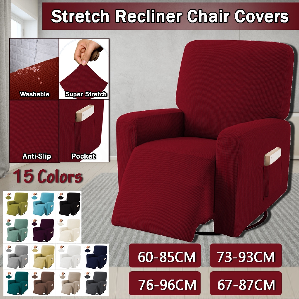 Lazy Boy Stretch Recliner Slipcover Couch Cover Washable Non slip Chair Covers