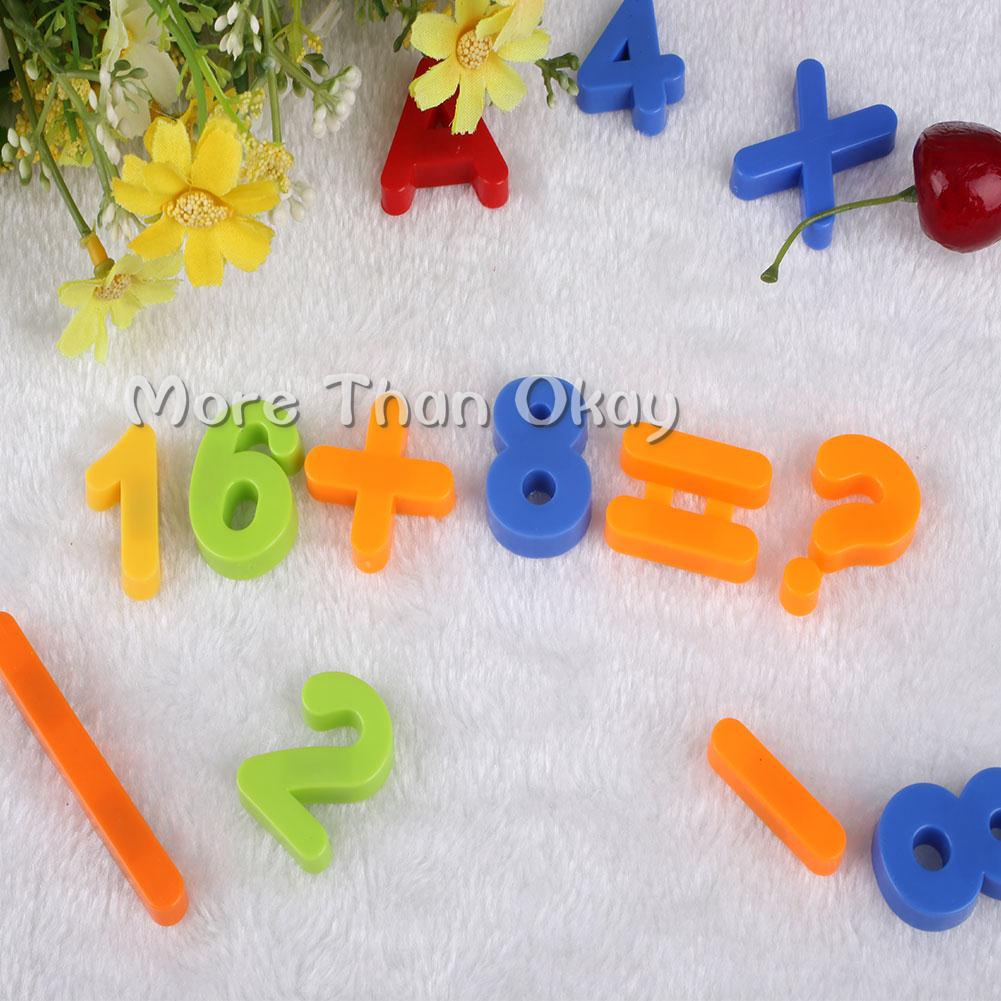 80pcs Magnetic Alphabet Letters Maths Numbers Symbols Kids Learning Creative Toy