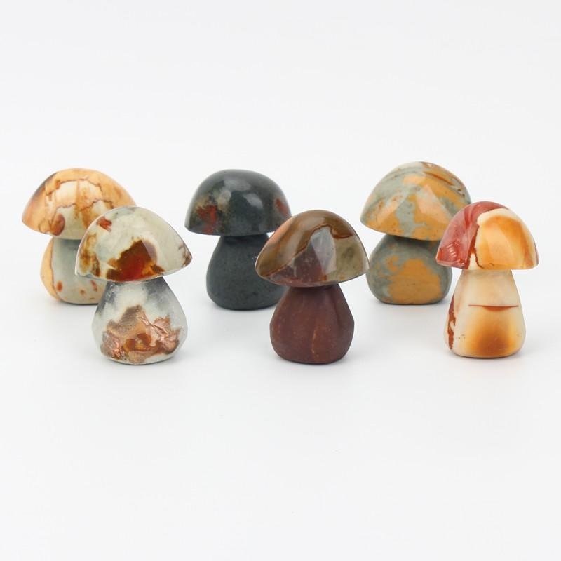 Ocean Jasper mushroom crystal carving