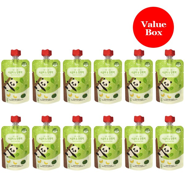 Evertto - Value Box of 12 x Spinach & Sweet Pumpki
