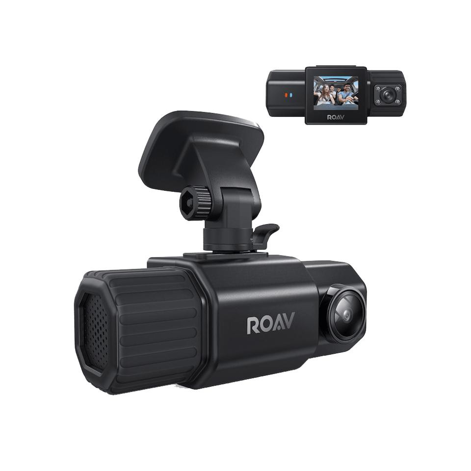 """AUKEY Dashboard Camera 2Port Night Vision HD 1080P Blk 2/""""LCD Wide Angle-Lens"""
