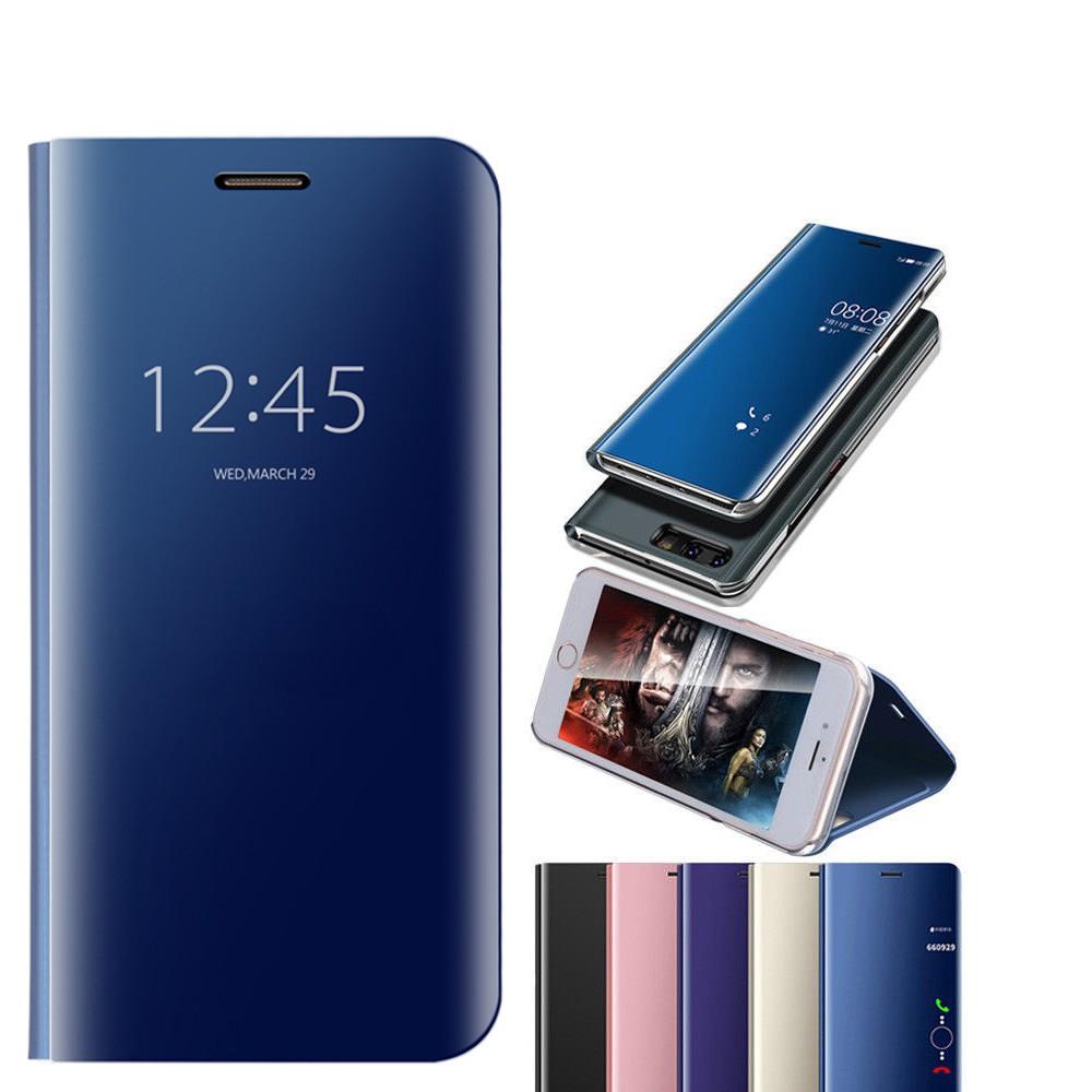 Huawei Nova 2i 3E Nova 2 Lite Flip Mirror View Phone Case Stand Cover Kickstand