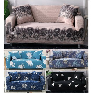 Sofa Cover Free Pillowcase Gift Anti Slip Elastic Fabric Seater Protector