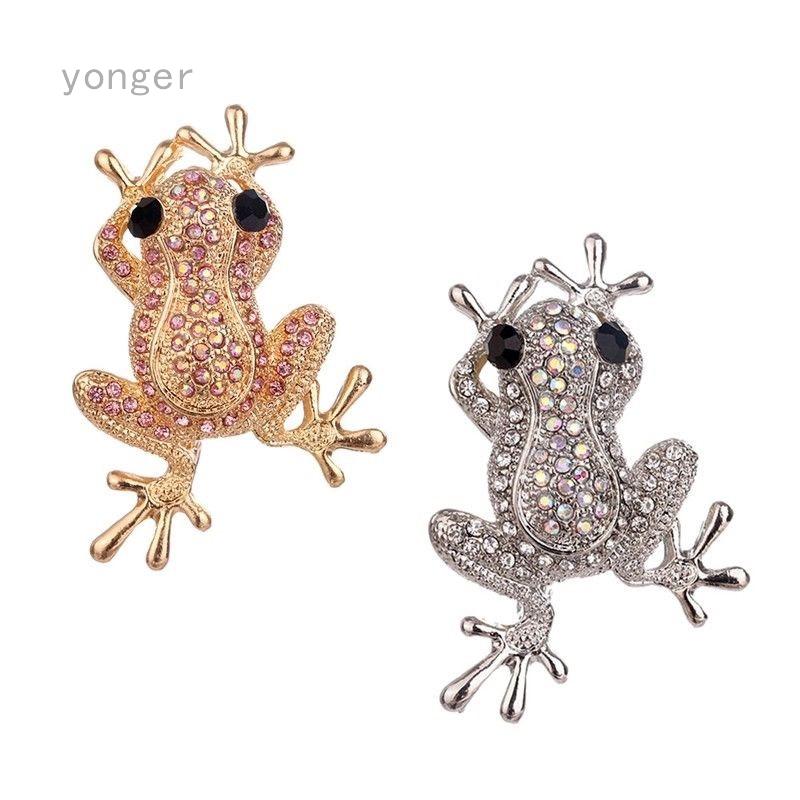 727bcb376de57 Lovely Rhinestone Crystal Animal Frog Brooch Broach Pins Dress Bag Women  Jewelry