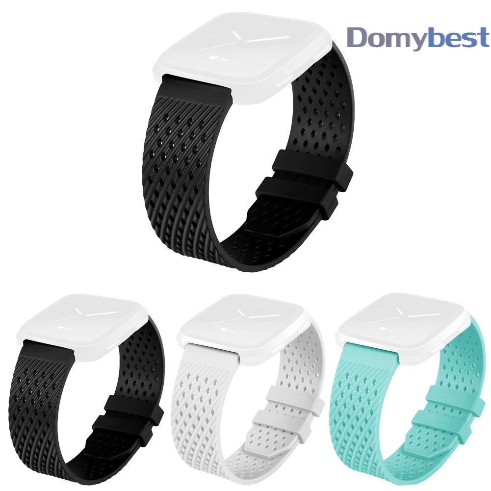 TPU Wristwatch Bracelet Wrist Strap No Watch Buckle for Fitbit Versa Watchband | Shopee Singapore