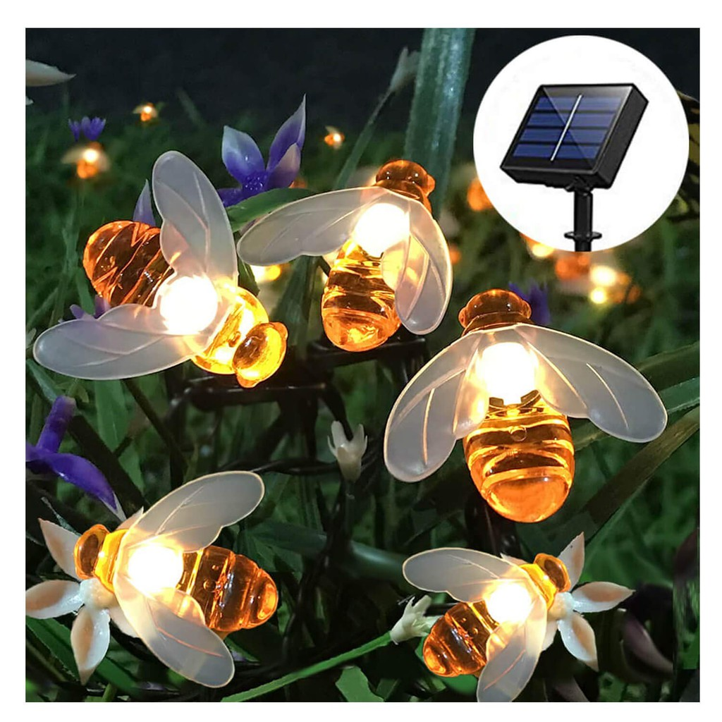 LED String Lights 10//20 LEDs Cute Honey Bee Shape String Light For Garden Decor