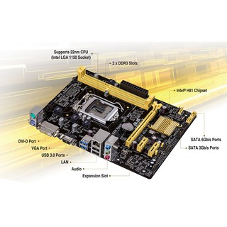 ASUS H81M-K Micro-ATX UEFI BIOS, Integrated Graphics, USB