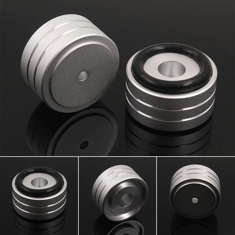 4pcs 40*20mm Aluminum Speaker Turntable DAC CD Player Isolation Feet Pad  Stand Westyle