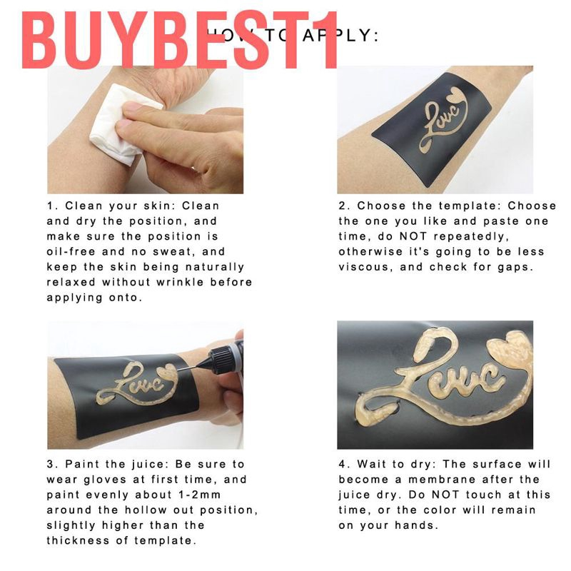 Buybest1 Natural Tattoo Temporary Body Art Ink Paste Tatto Ink Proffessional Shopee Singapore