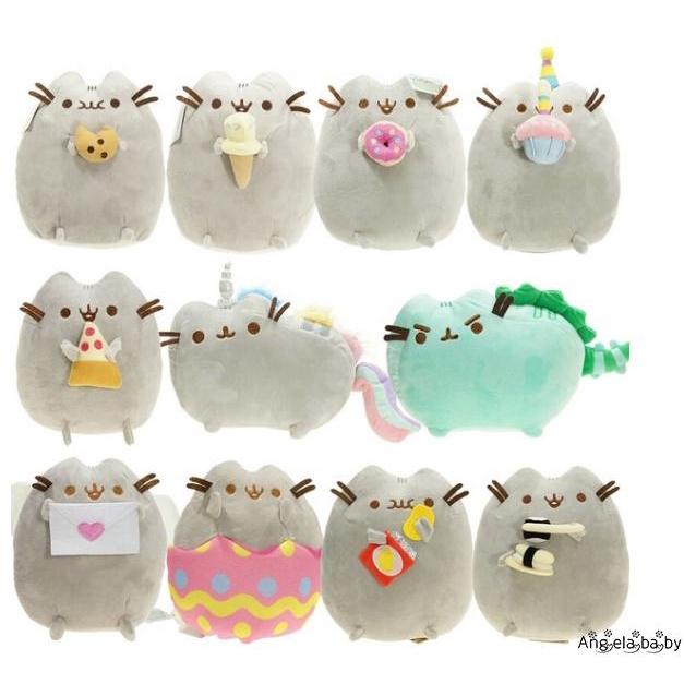 ⓗღ✯7in Pusheen The Cat Pusheen With Cookie Plush Soft Toy Stuffed Animal BRAND