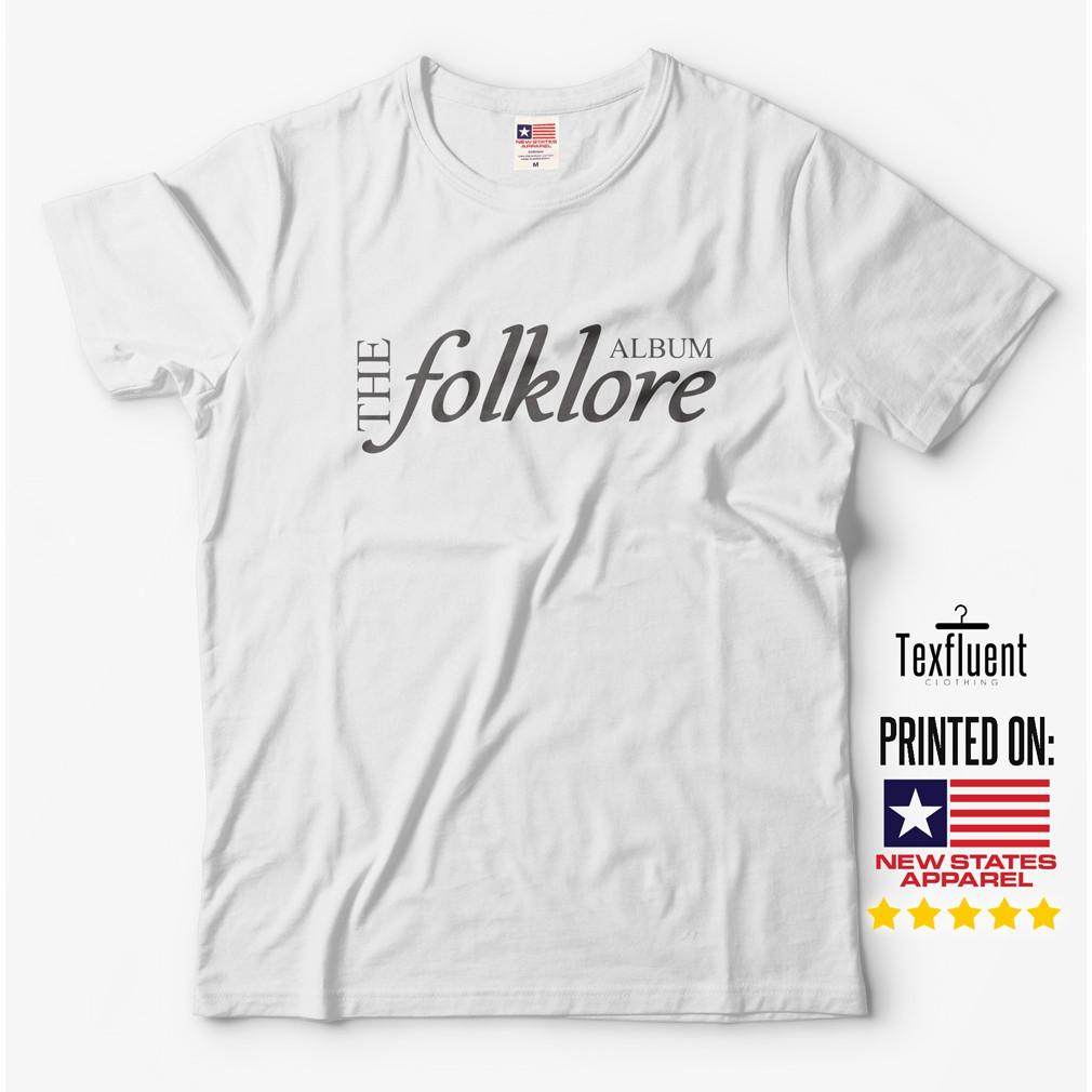 Taylor Swift Shirt Folklore Album Shirt Men Women Short Sleeve Comfortable Shopee Singapore