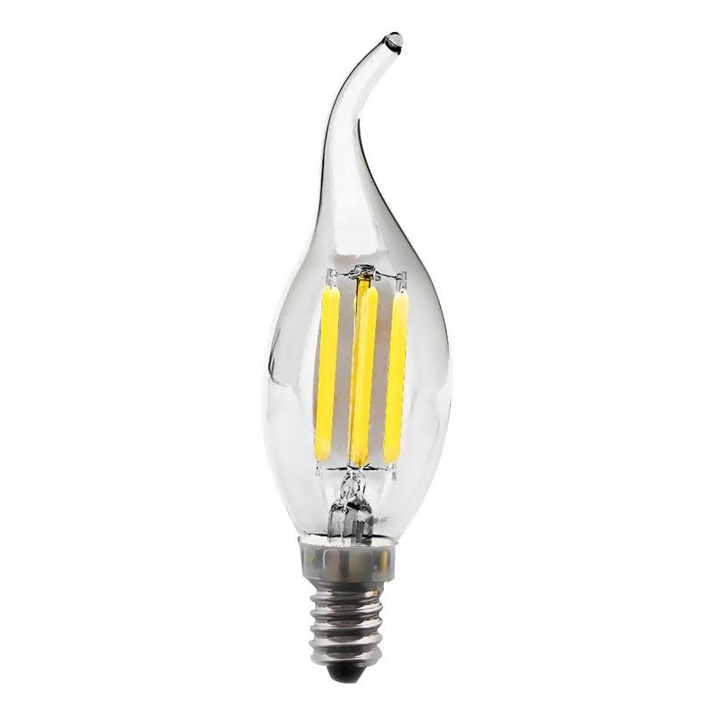 E14 E27 5W Edison COB Filament 25 LED Light Candle//Flame Bulb Lamp Chandelier