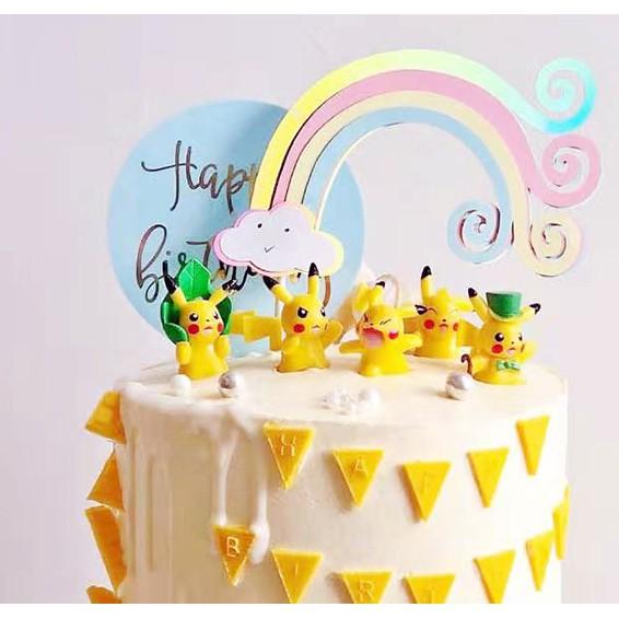 Phenomenal Pikachu Figurine Set Of 6 Pokemon Figurines Birthday Cake Topper Funny Birthday Cards Online Eattedamsfinfo