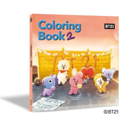 Bt21 Coloring Book 2 Bts Bangtan Boys Coloring Books For Army And Kpop Lovers With Koya Rj Shooky Mang Chimmy Tata Cooky Van Shopee Singapore