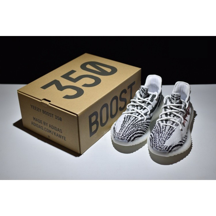 3a7b58339fbbd  ready stock  original Adidas Yeezy Boost 350 V2 white Zebra CP9654 hot  selling