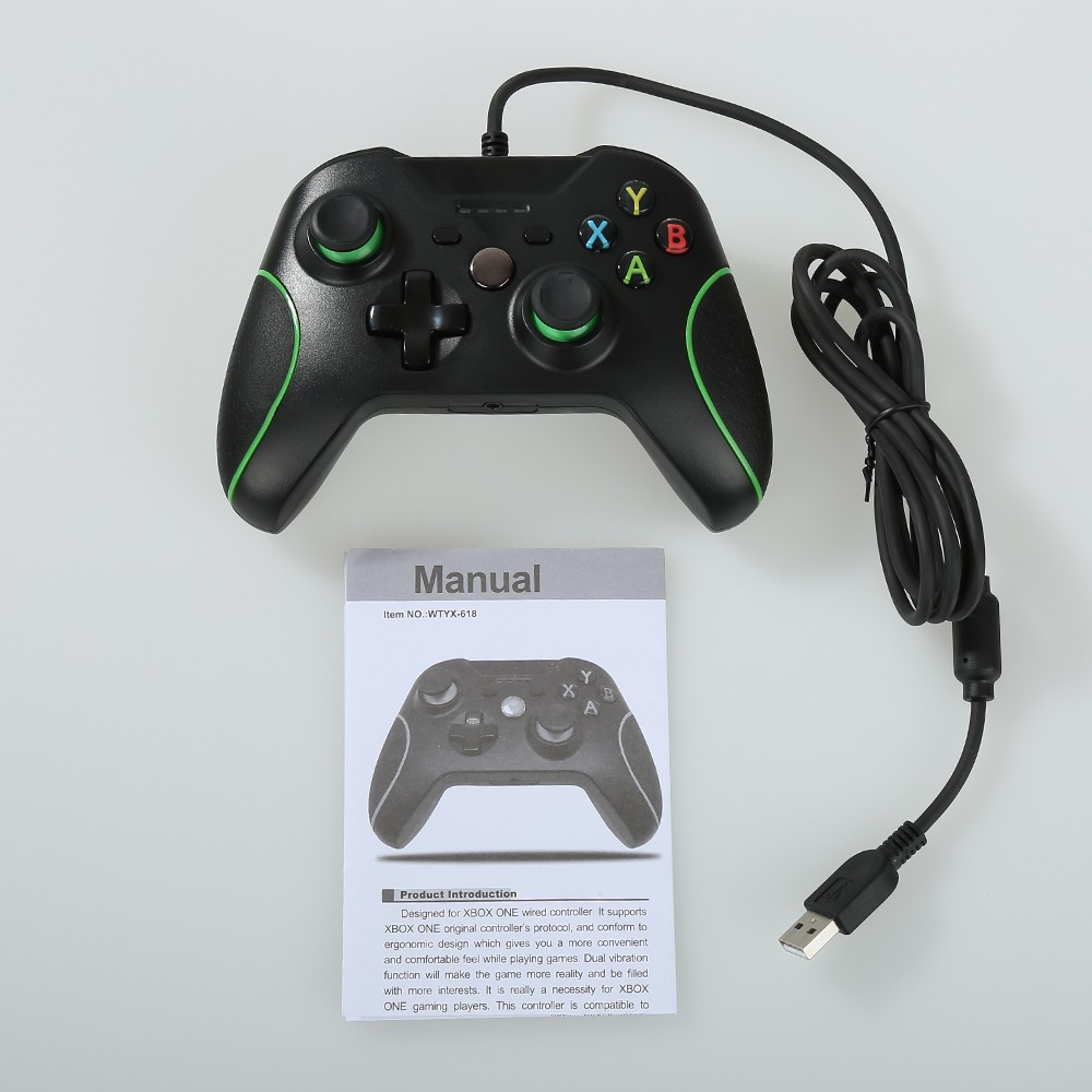 USB Wired Controller Gamepad with Dual Vibration for DOBE XBOX ONE ...