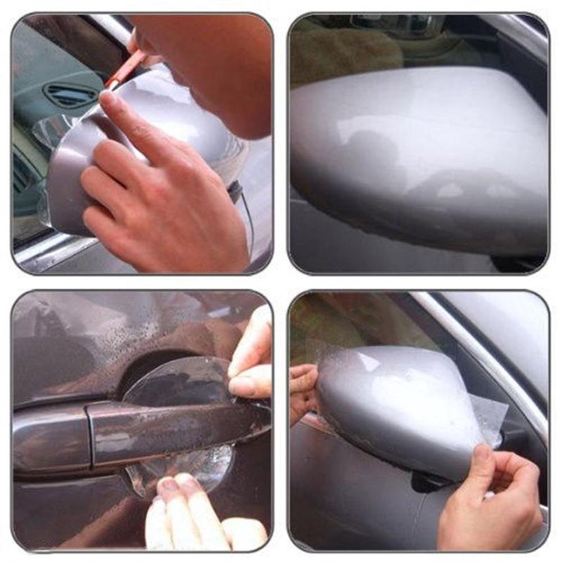 20pcs Universal Invisible Car Door Handle Scratches Protective Protector Film TZ