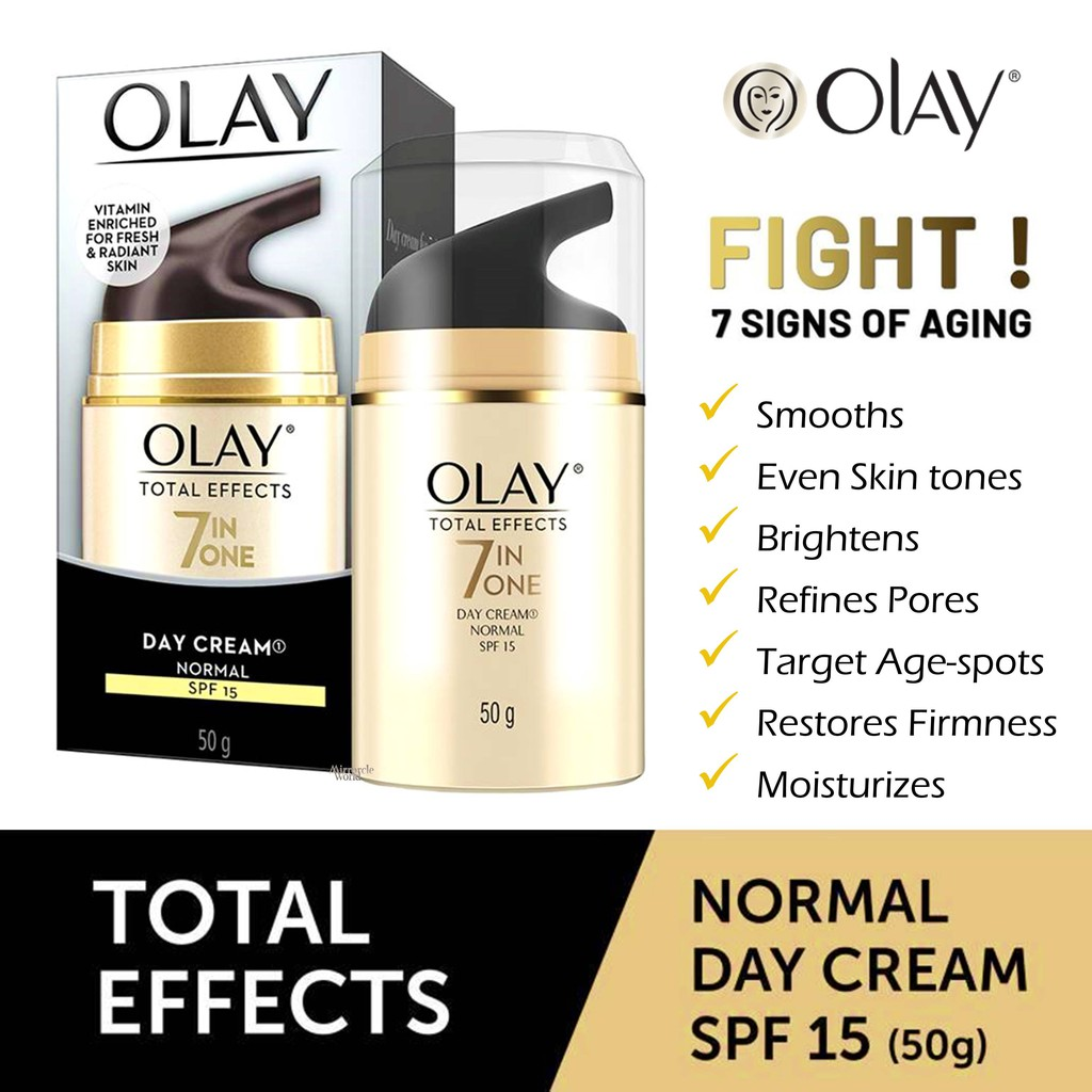Day Cream Skincare Price And Deals Beauty Personal Care Nov Olay Total Effects Normal Spf 15 8g 2018 Shopee Singapore