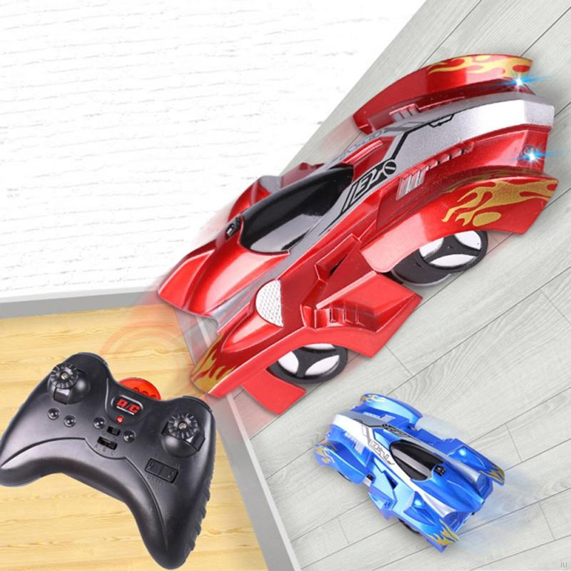 Iu Rc Wall Climbing Car Remote Control Anti Gravity Ceiling Racing Car Electric Toys Machine Auto Gift For Children Shopee Singapore