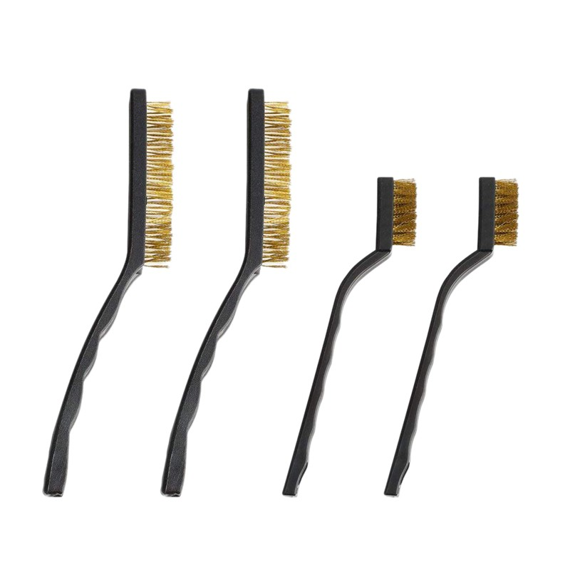 12 Pieces Stainless Steel Metal Wire Scratch Brush Set for Cleaning Welding Slag Rust and Dust