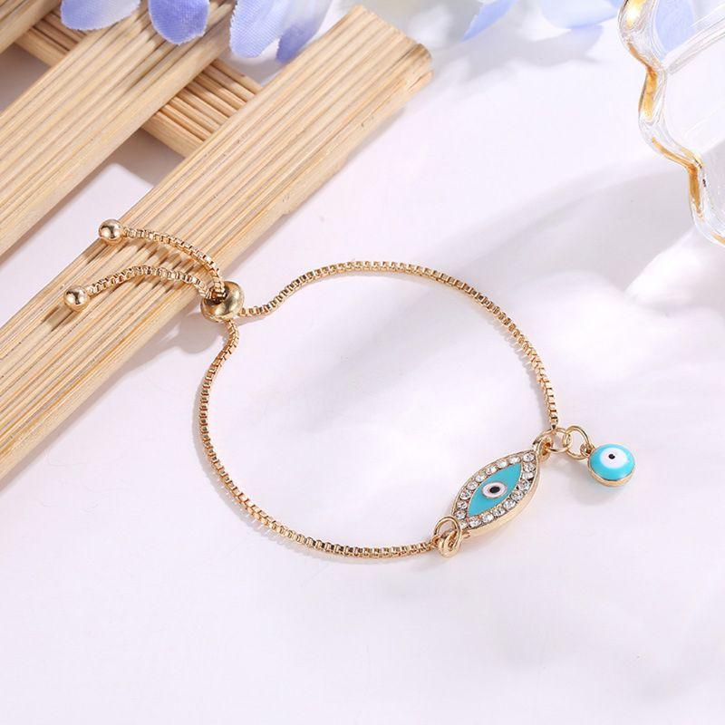 Arin Turkish Lucky Blue Crystal Bracelets Handmade Gold Chains Jewelry