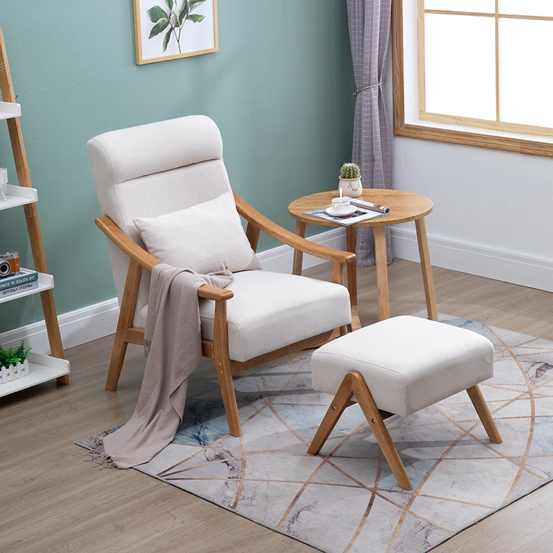 Living Room Chair Simple Bedroom Fabric, Living Room Chairs