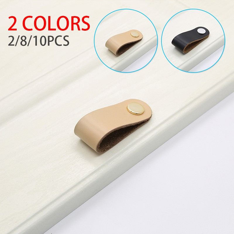 Leather Door Handles Home Parts Pull, Replacement Drawer Pulls For Furniture