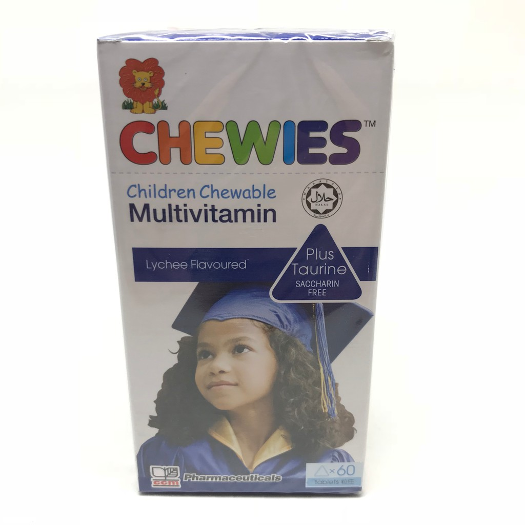Chewies Children Chewable Multivitamin Plus Taurine 60's