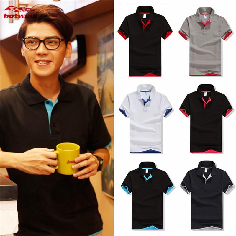 Nanquan Men Casual Cotton Slim Fit Long Sleeve Polo Shirt T-Shirts