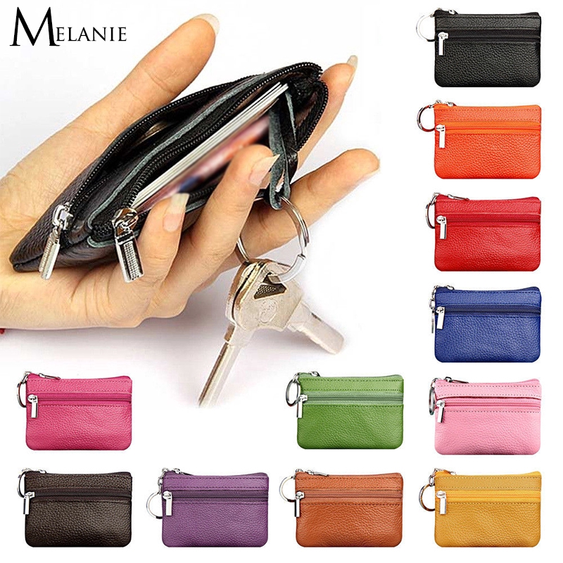 Mini Small Soft Leather Wallet Purse Coin Card Bag Keys Pouch for Women Men