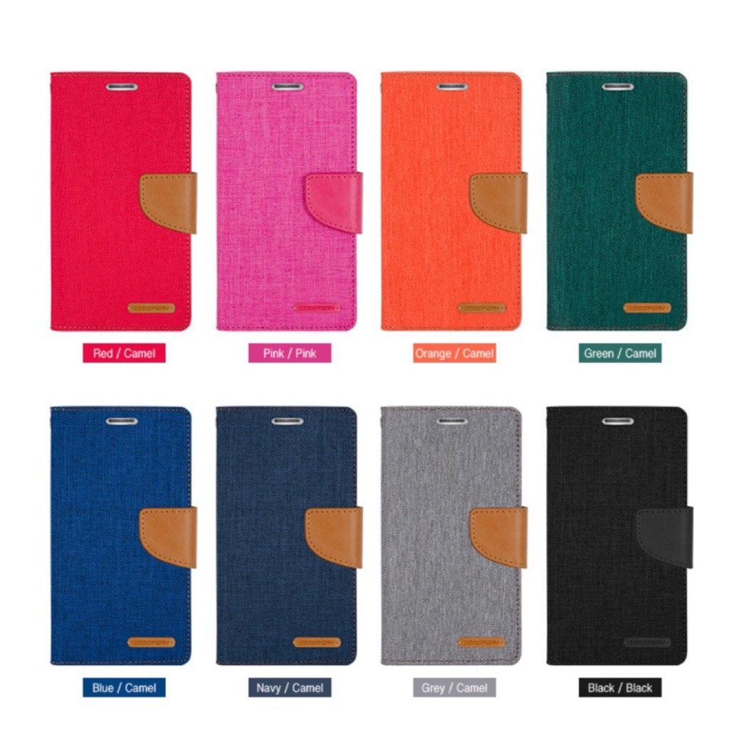 Efor Mercury Goospery Canvas Diary For Iphone 8 Plus 7 Samsung Galaxy J2 Case Green Texture H Shopee Singapore