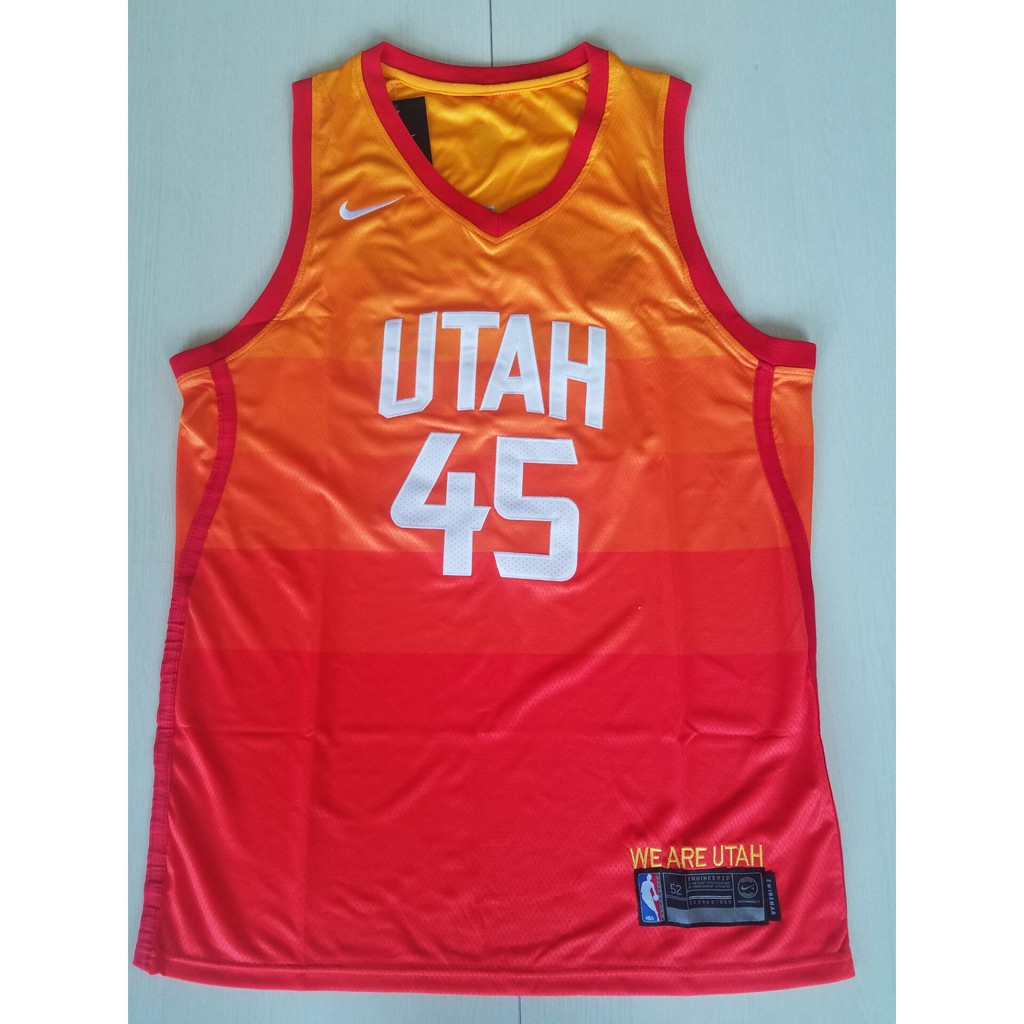 reputable site 44cc4 05723 NBA Jersey Basketball Suits Jazz No. 45 Mitchell Shirts Adult Vests Men's  Sports