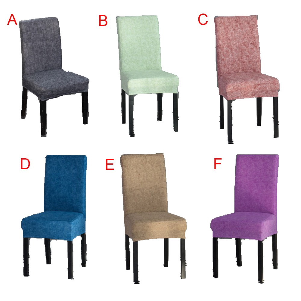 Solid Color Chair Covers Spandex Dining