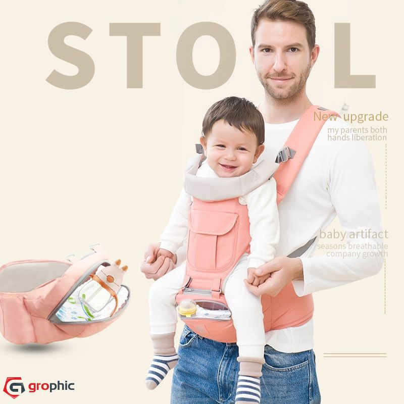 Striped Grey X-Large Baby Ktan PRINT Baby Carrier
