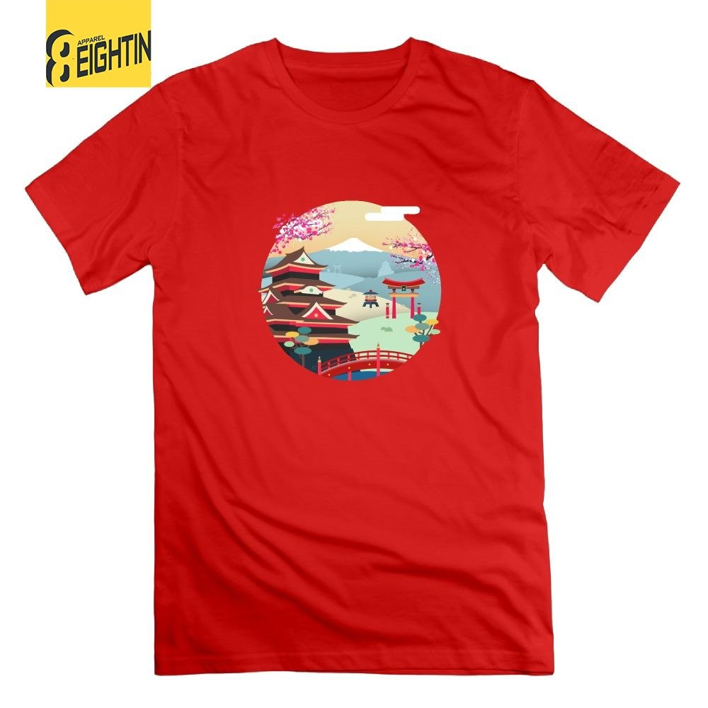 a68b3451 ProductImage. ProductImage. Tokyo Japan Cotton T Shirts Mens Tees Red