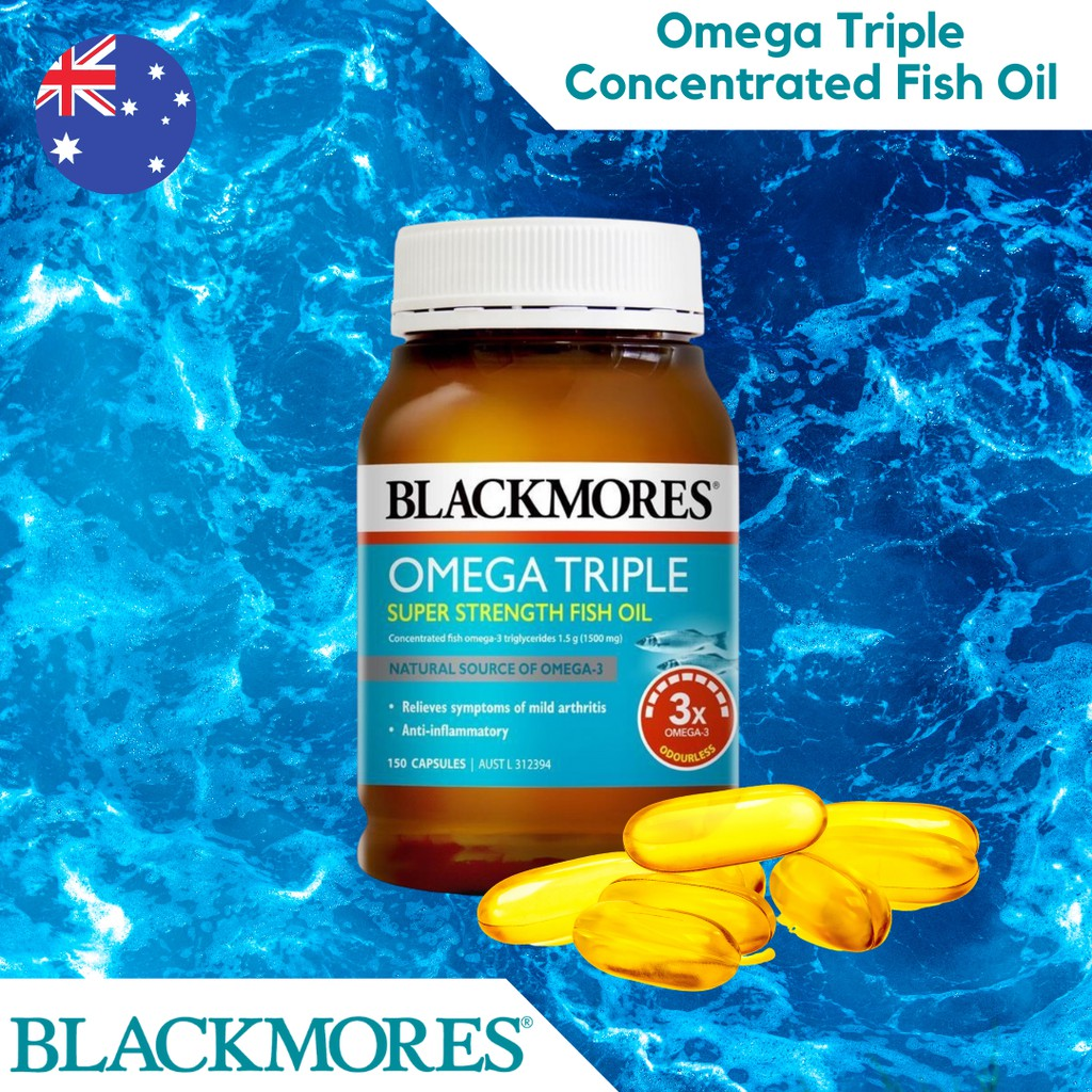 Blackmores Concentrated Triple Fish Oil 150 capsules