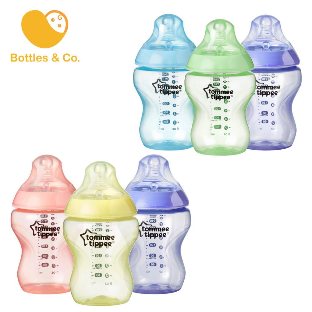 x6 Tommee Tippee Closer to Nature 260ml//9oz Bottles 6-pack + Vari-Flow Teats