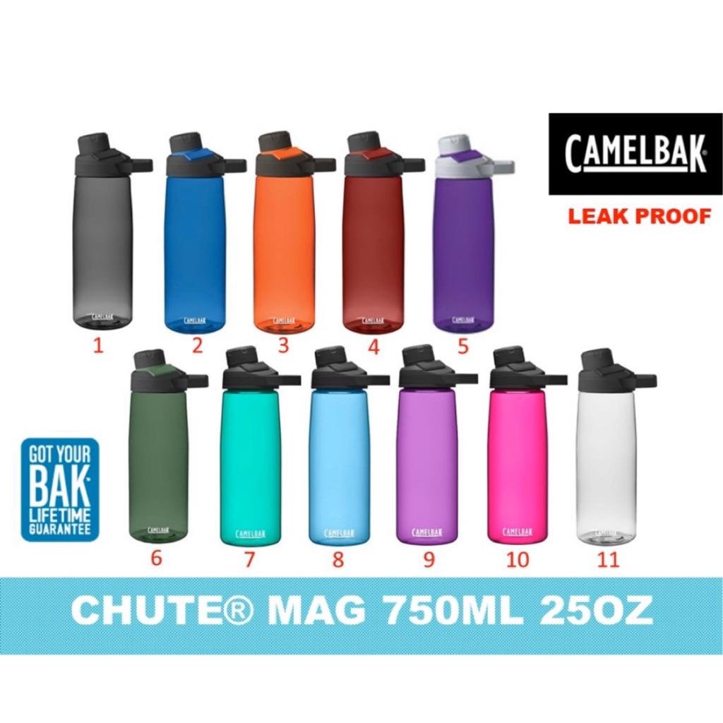 NEW CAMELBAK CHUTE BOTTLE 1L WATER DRINKS BPA FREE TUMBLERS LEAK PROOF CLEAR