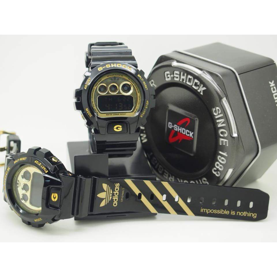 atómico Tierras altas autor  G Shock Adidas Black Gold 6900 (Restock) | Shopee Singapore