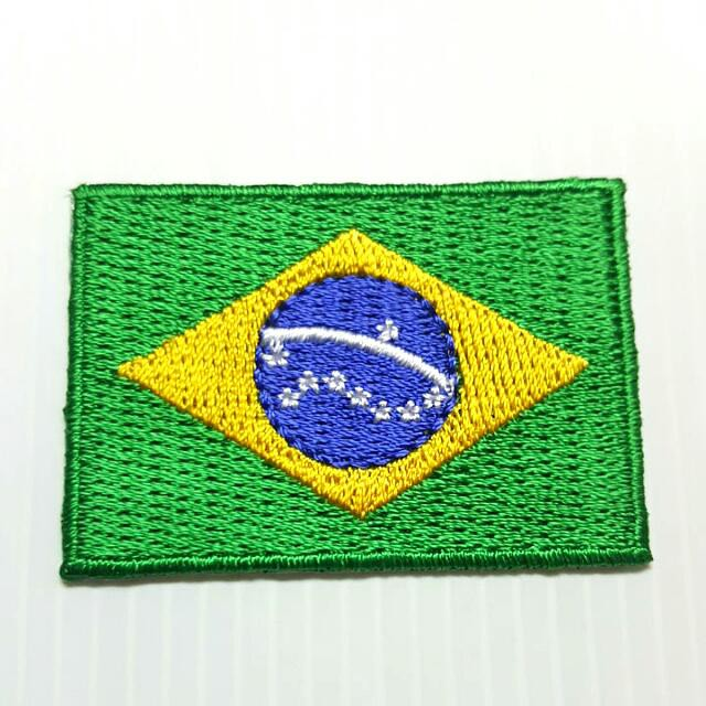 Brazil National Flag Iron on Sew on Embroidered Patch Badge For Clothes Etc