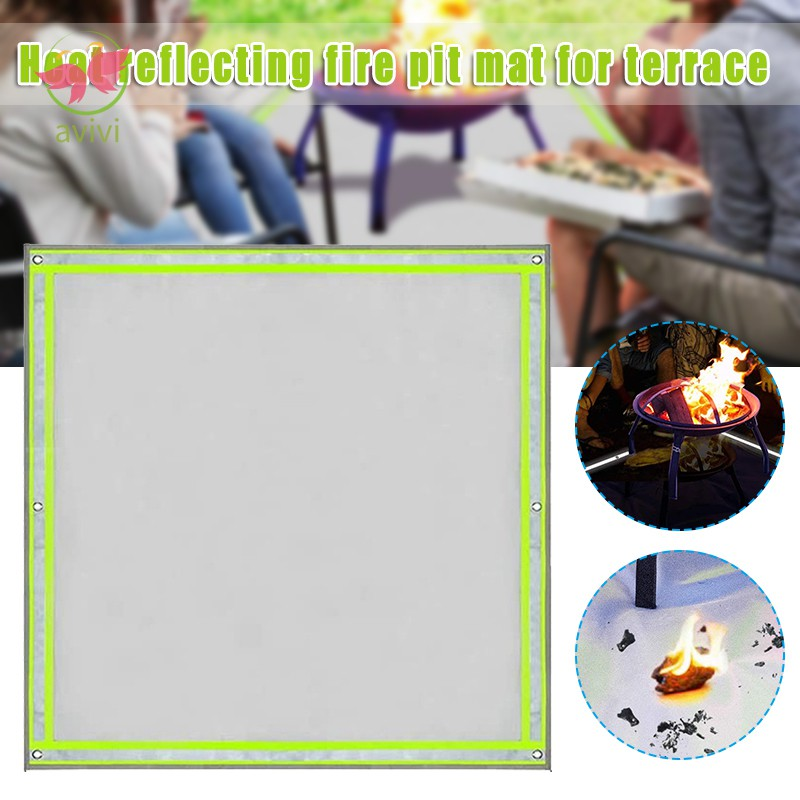 Fire Pit Mat Visible At Night Protection Grill Patio Fireproof Mat Deck Protector Under Grill Mat For Wood Burning Fire Shopee Singapore