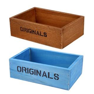 Colorful Handmade Antique Wood Storage Box Vintage Wooden