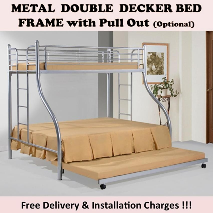 Gigi Double Decker Bed With Pull Out 2 Plywood Shopee Singapore